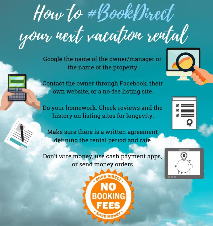 A #BookDirect image with instructions