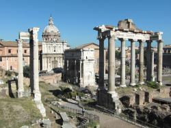 An image of the aincient Roman forum