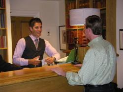 An image of a hotel front desk